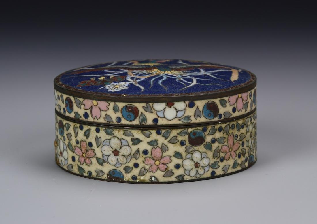 Chinese 19th Century Cloisonne Make up Box