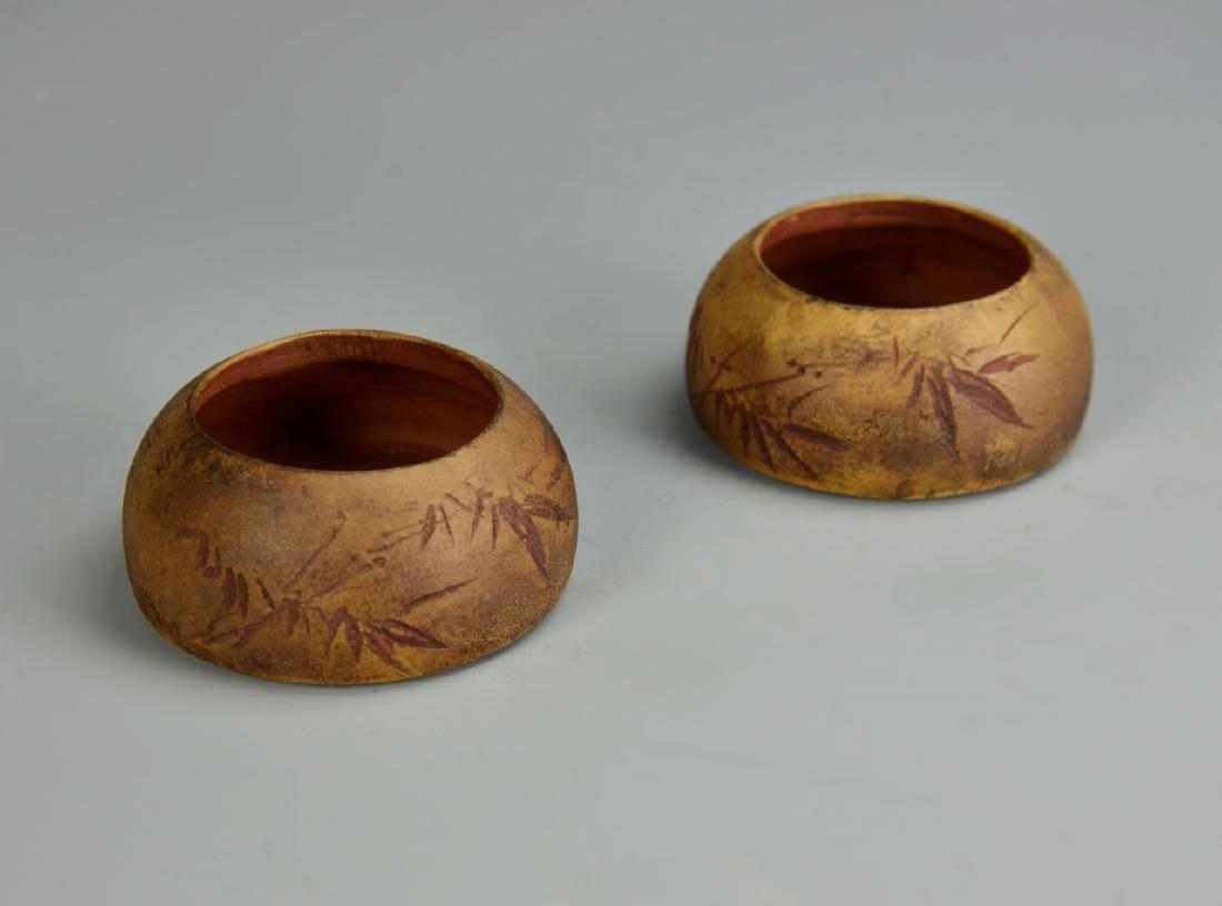 Pair of Chinese Yixing Brush Washers