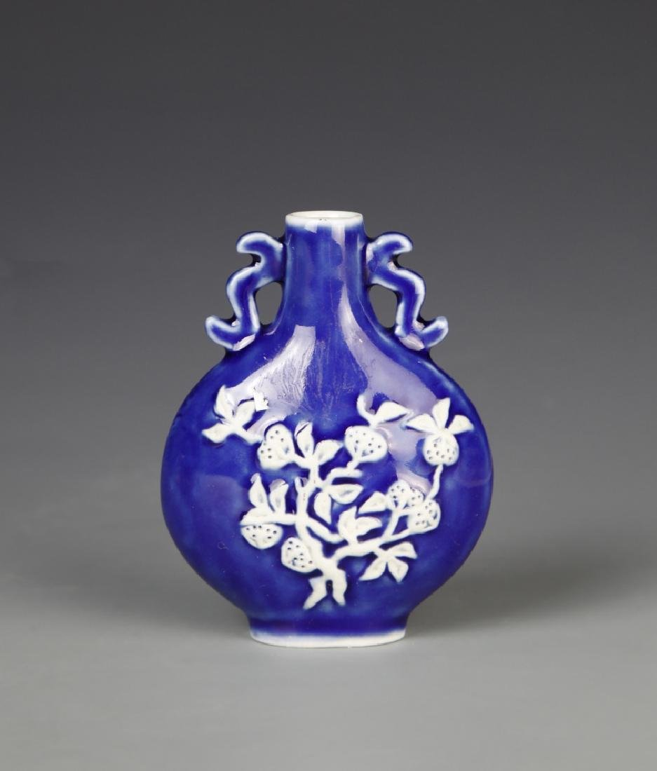 Chinese Blue and White Snuff Bottle