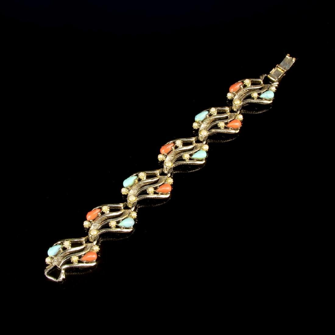 Chinese Bracelet with Turquoise and Coral