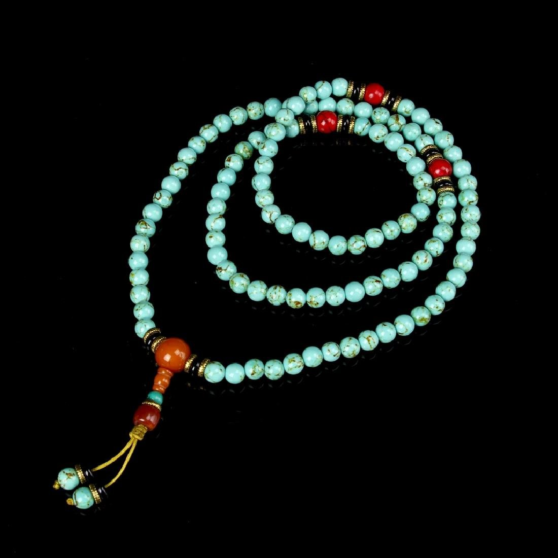 Chinese Tibetan Turquoise Necklace