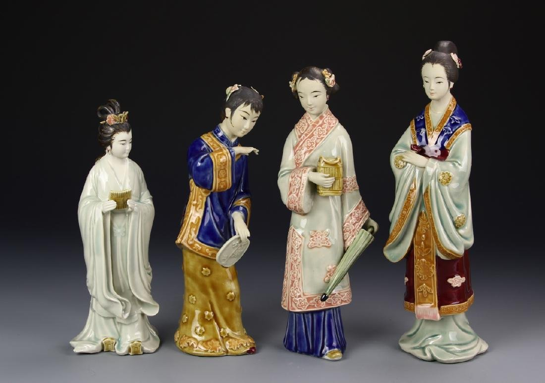 Four Porcelain Ladies