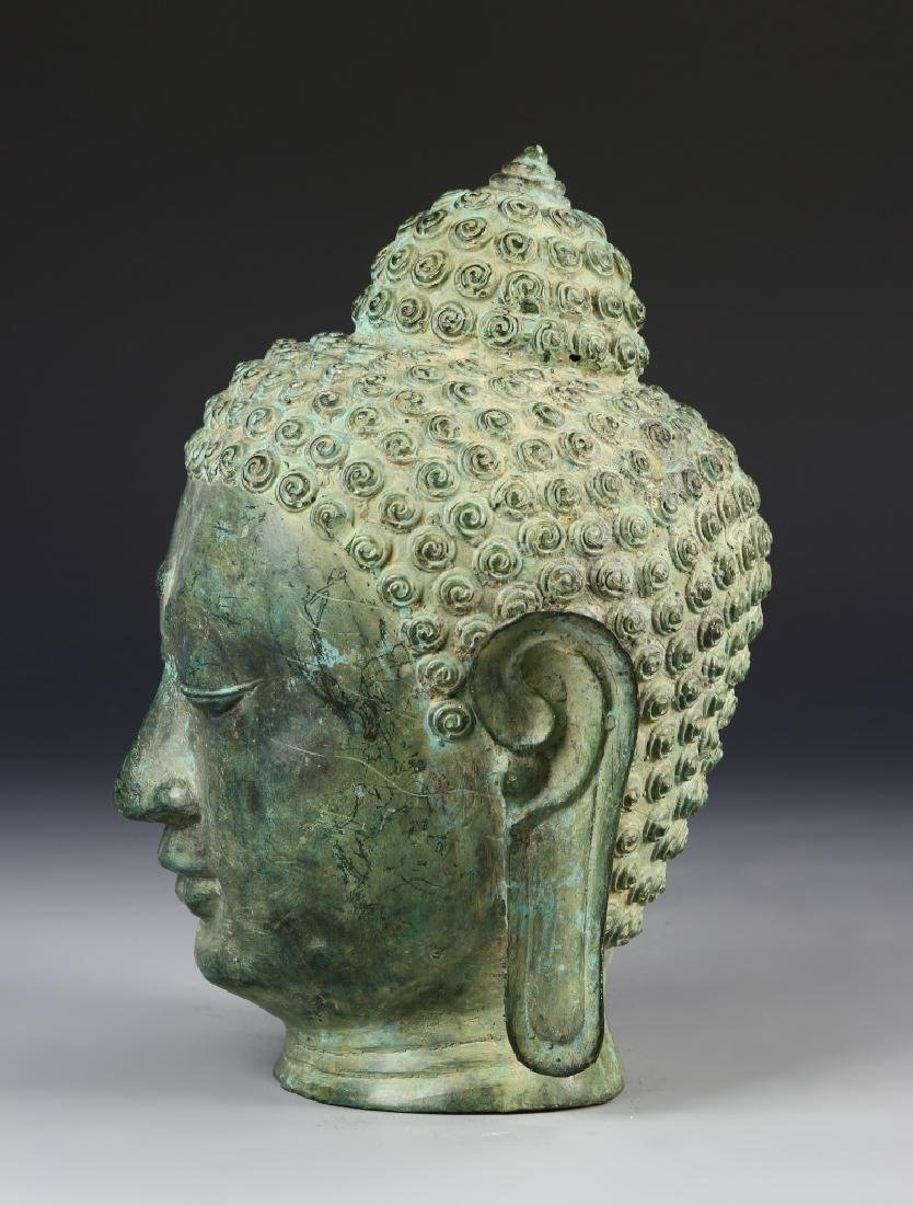 Thai Bronze Buddha Head - 2