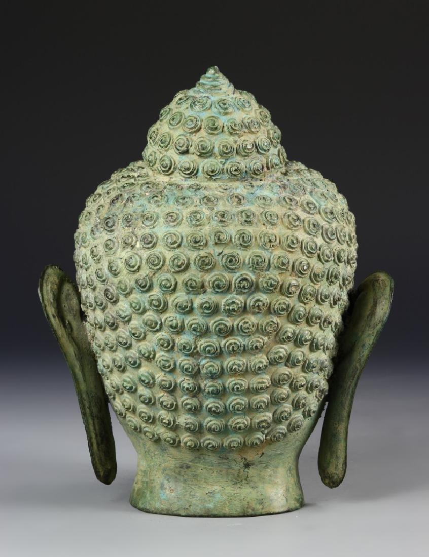 Thai Bronze Buddha Head - 3