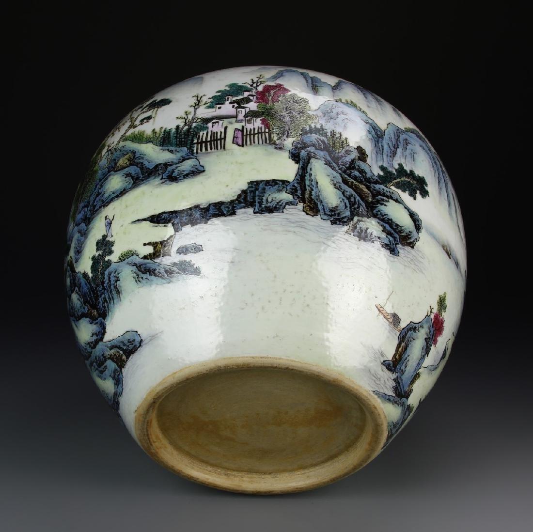 Chinese Famille Rose Jar - 5