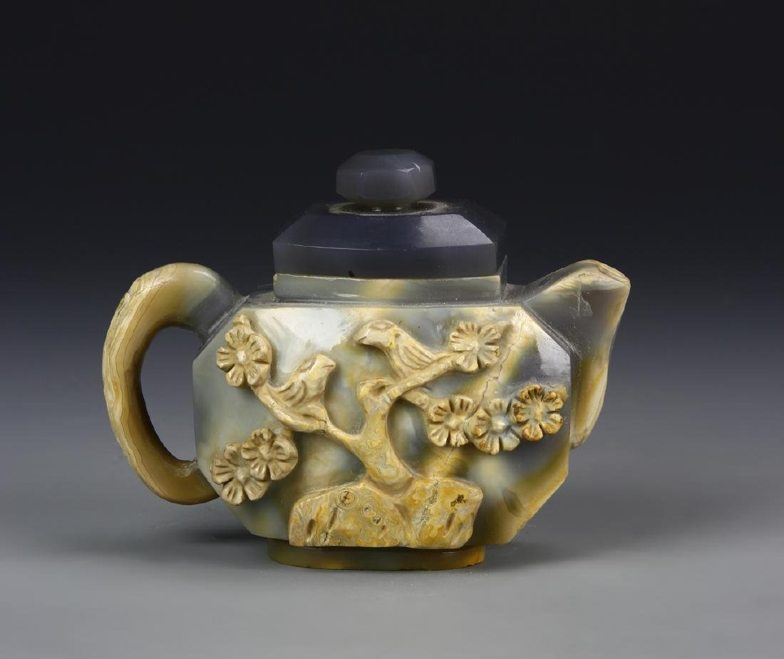 Chinese Agate Stone Teapot