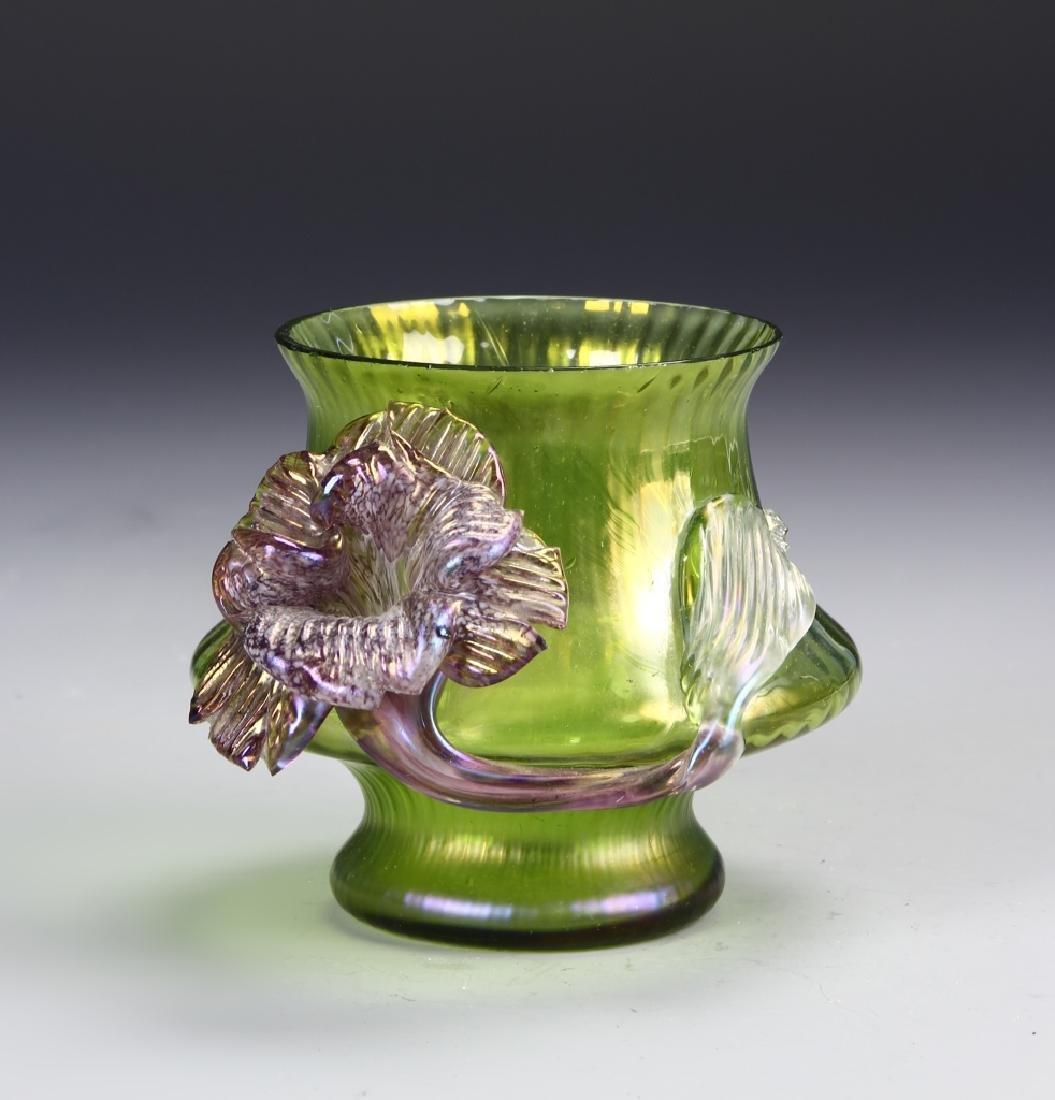 Tiffany Style Glass Jar