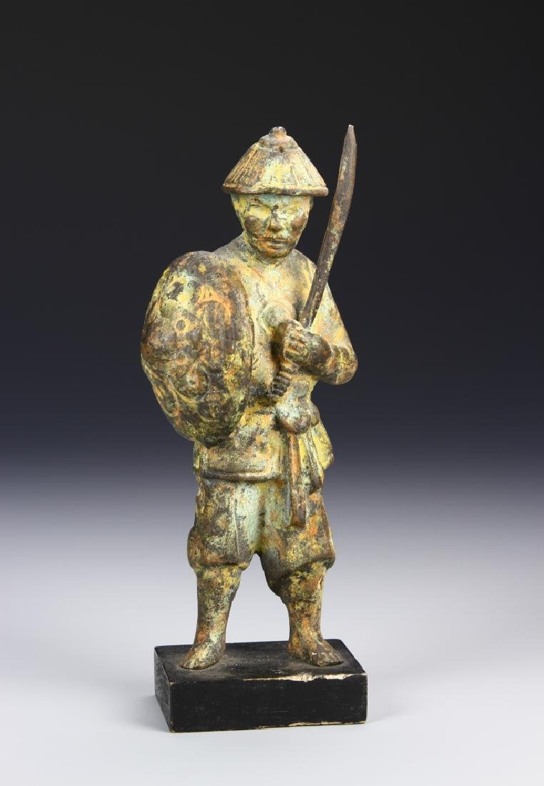 Chinese Antique Bronze Warrior