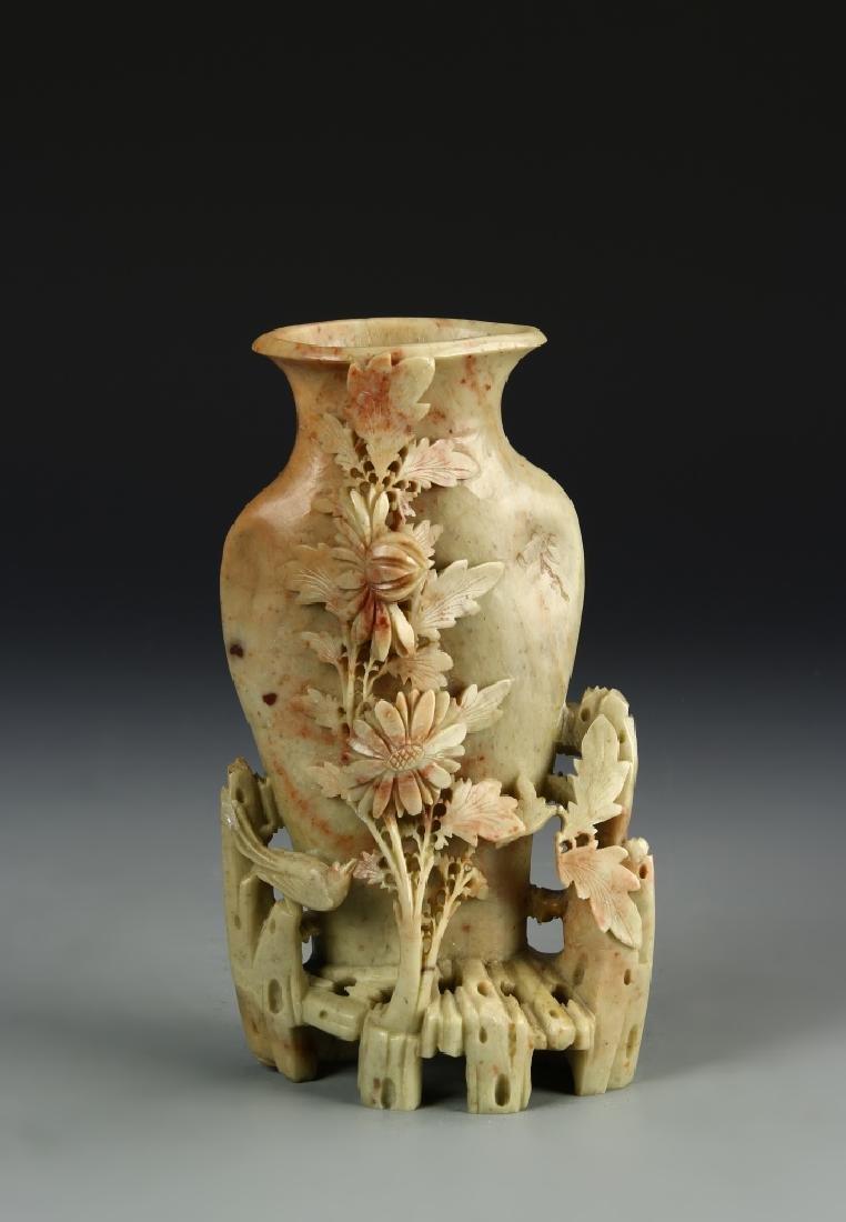 Chinese Soap Stone Vase