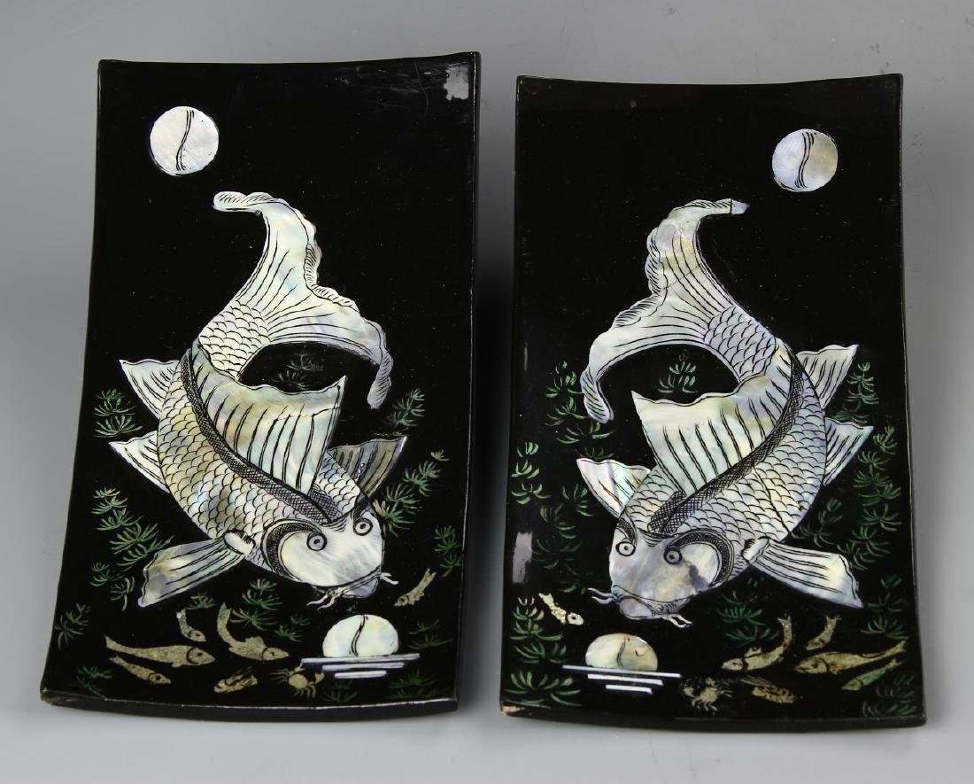Chinese A Pair Of Trays