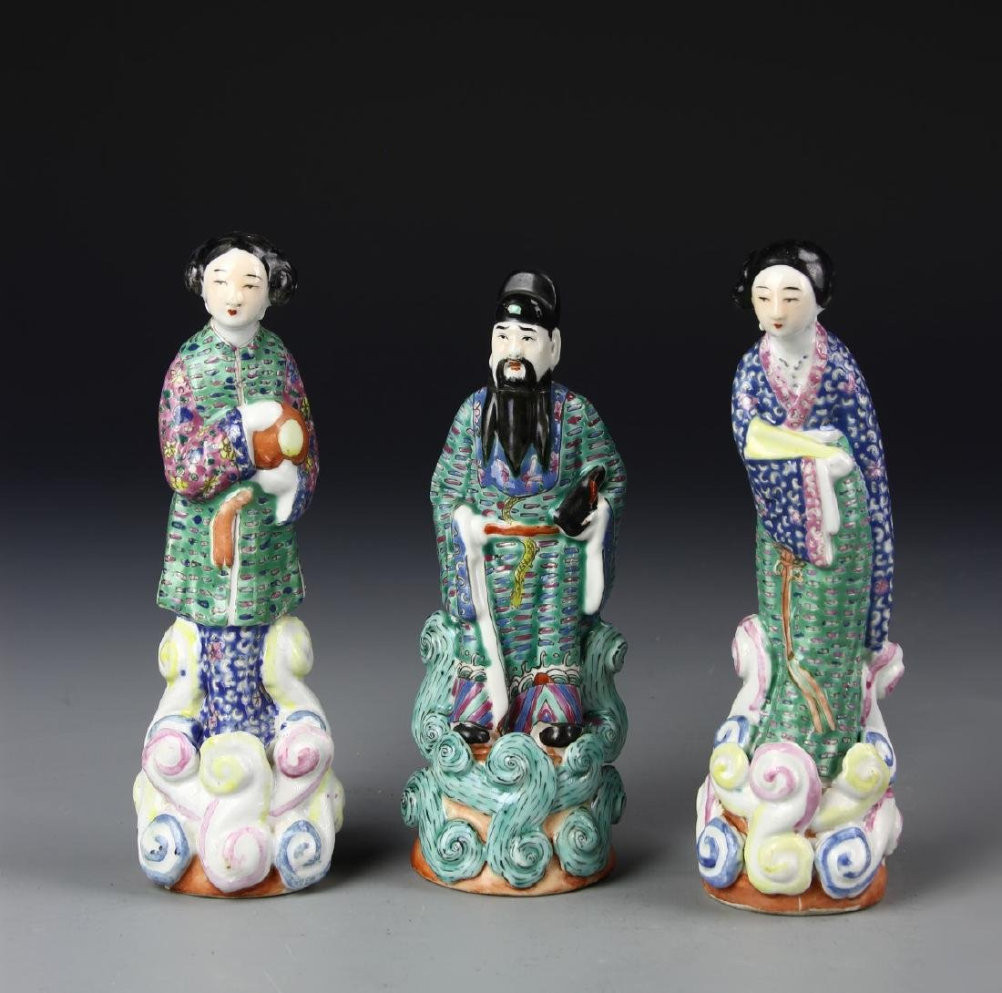 Chinese Three Famille Rose Figures