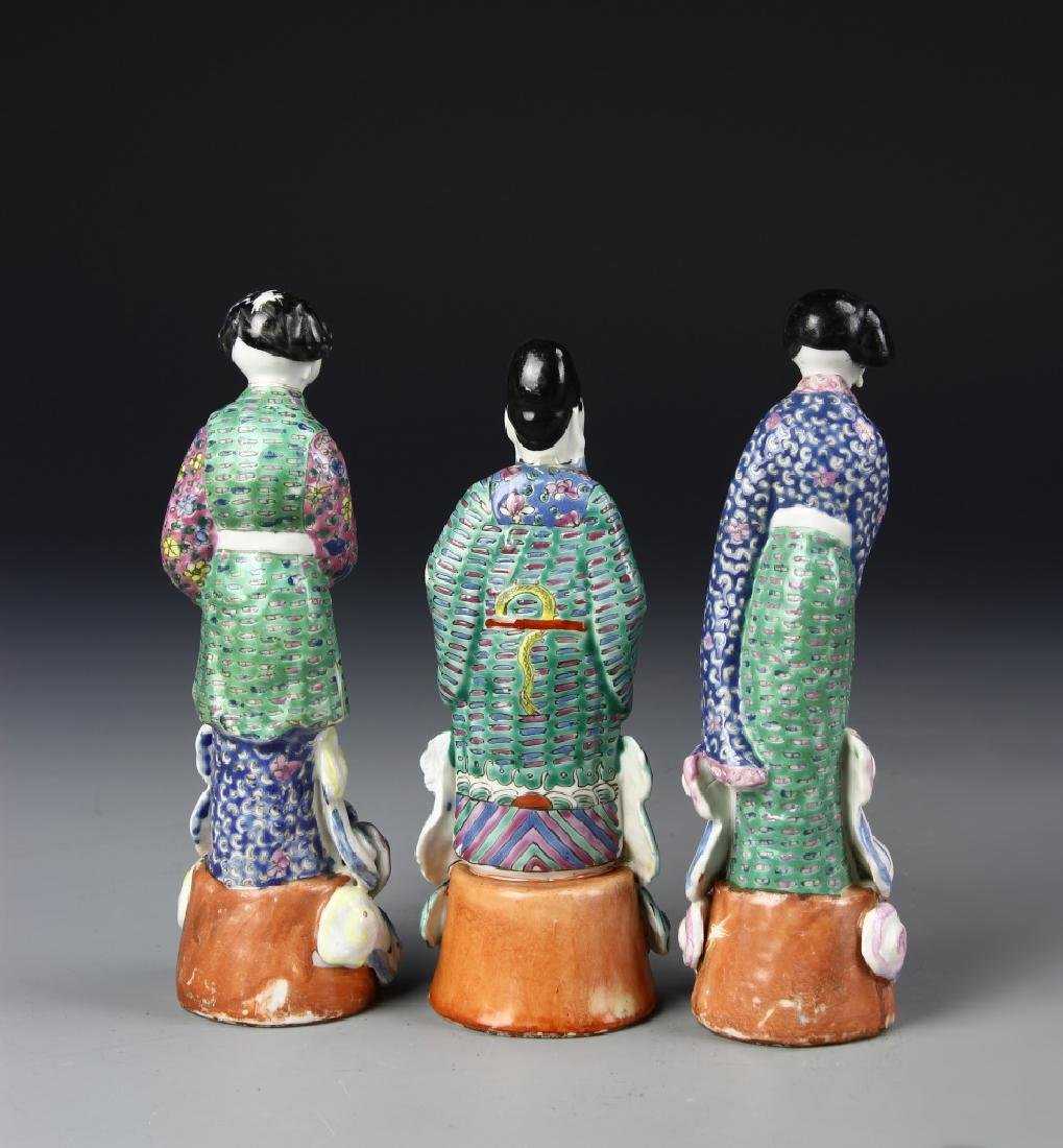 Chinese Three Famille Rose Figures - 2