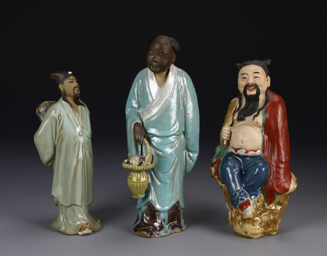 Chinese Three Porcelain Figures
