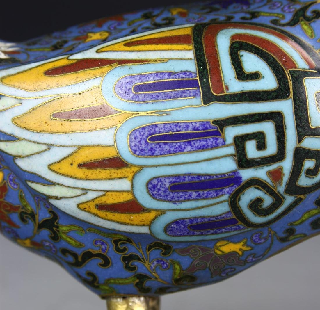 55594Chinese Cloisonne Duck - 5