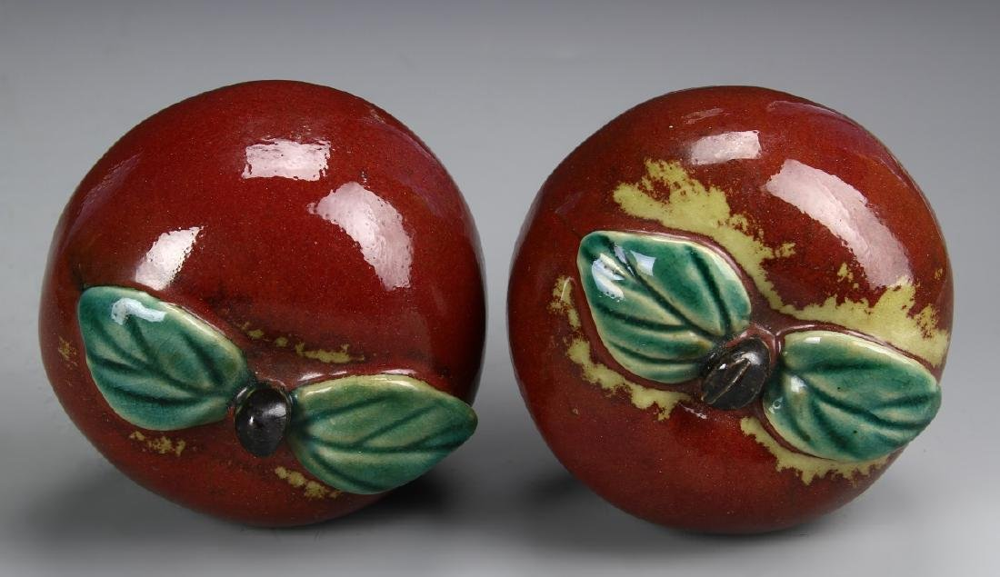Chinese A Pair Of Porcelain Apples - 3