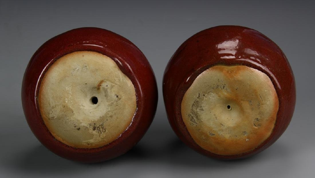 Chinese A Pair Of Porcelain Apples - 4