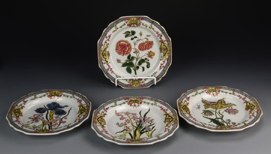 Chinese A Set Of Decorative Famille Rose Plates