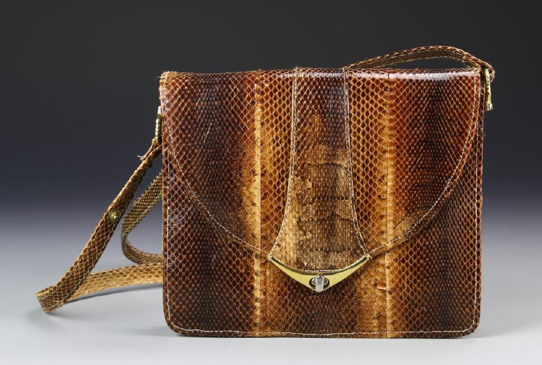 Snake Leather Ladies Bag