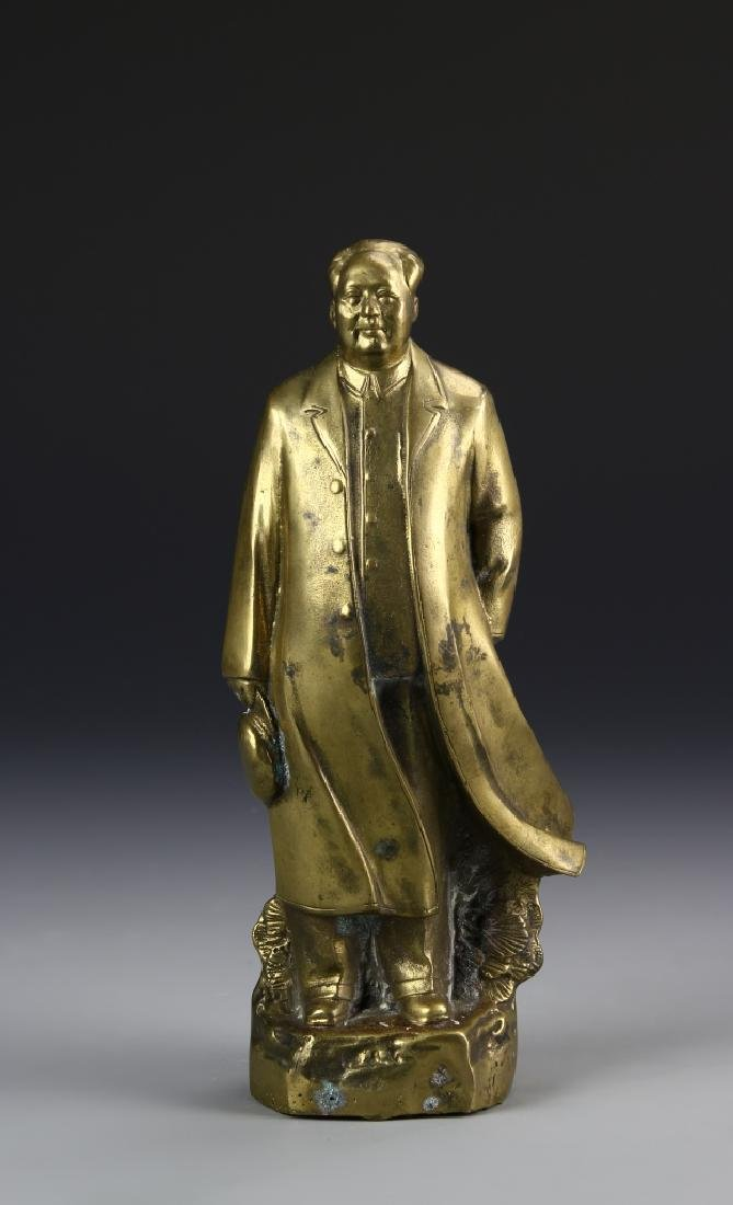 Chinese Mao Brass Stature