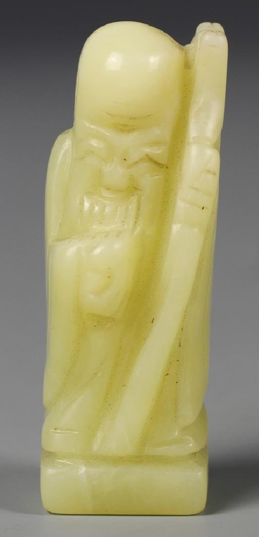 Chinese Carved Jade Shoulao Figure