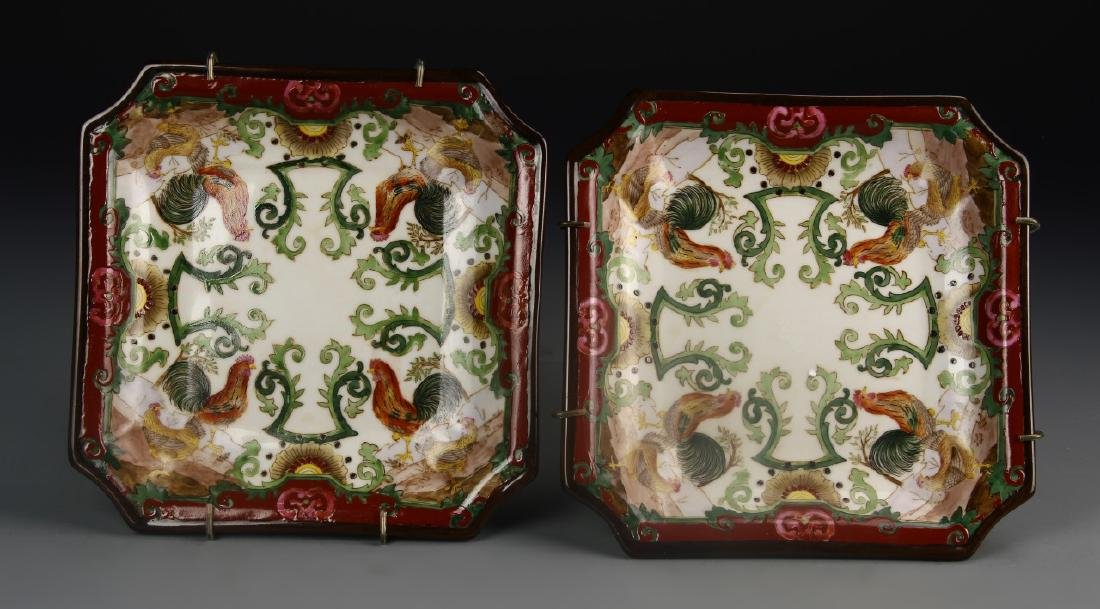 Chinese A Pair Of Porcelain Plates