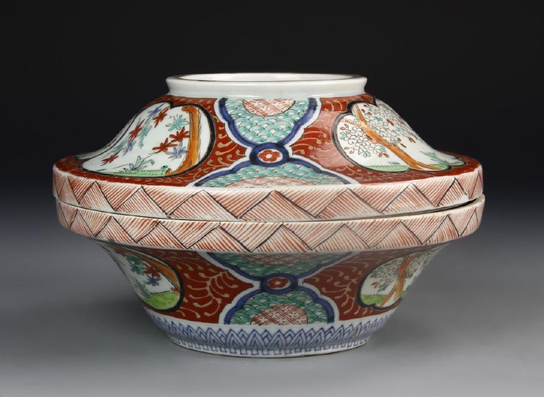 Japanese Imari Bowl With Cover