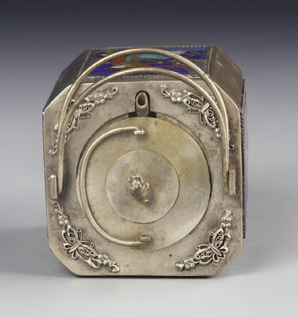 Chinese Enameled Metal Wine Pot - 3