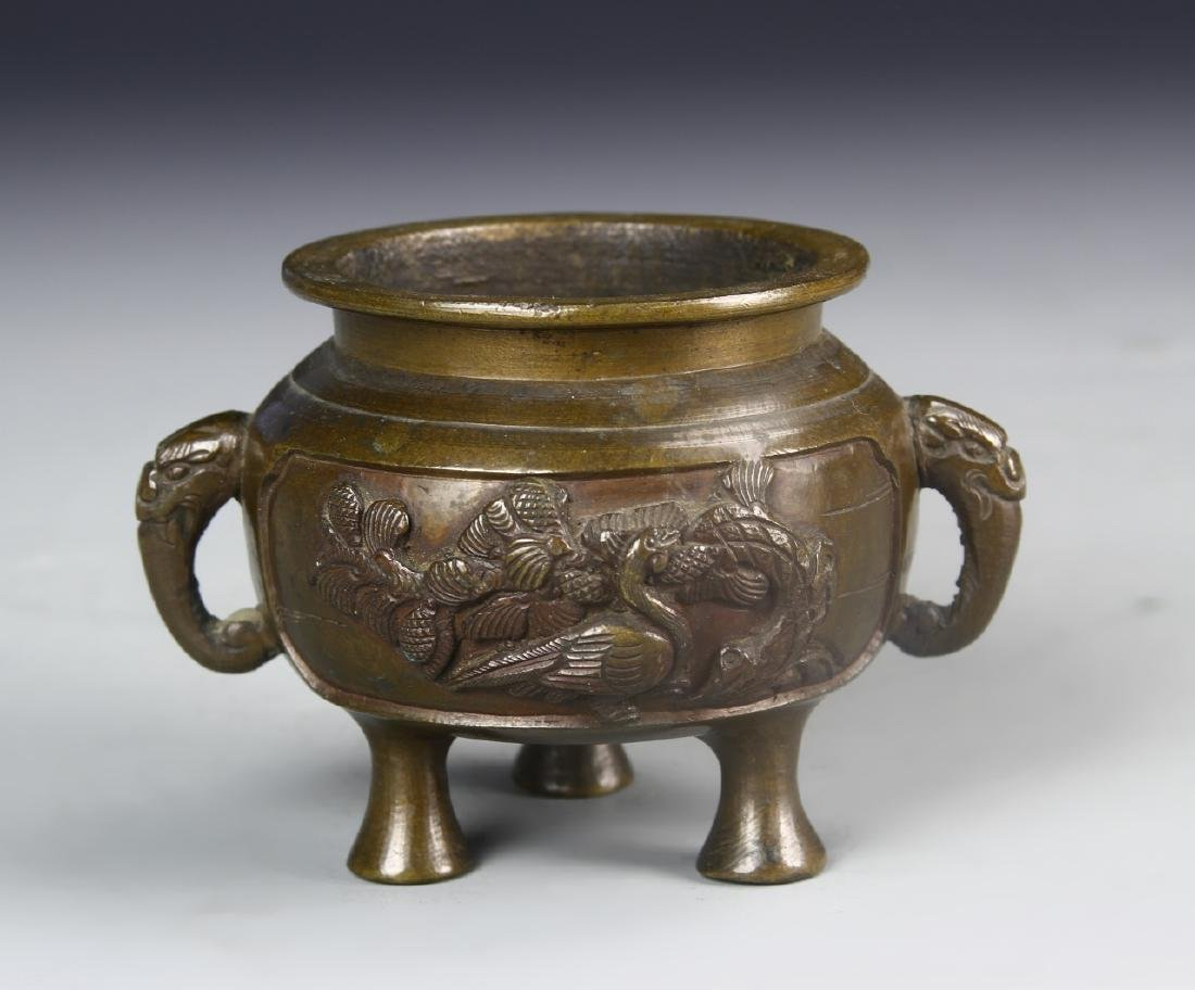 Chinese Bronze Tripod Censor