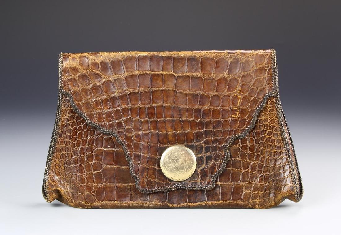 Vintage Crocodile Leather Ladies Bag