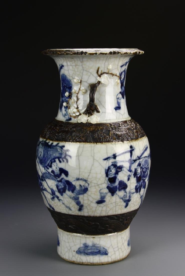 566Chinese 18th Century Export Blue and White Vase - 3
