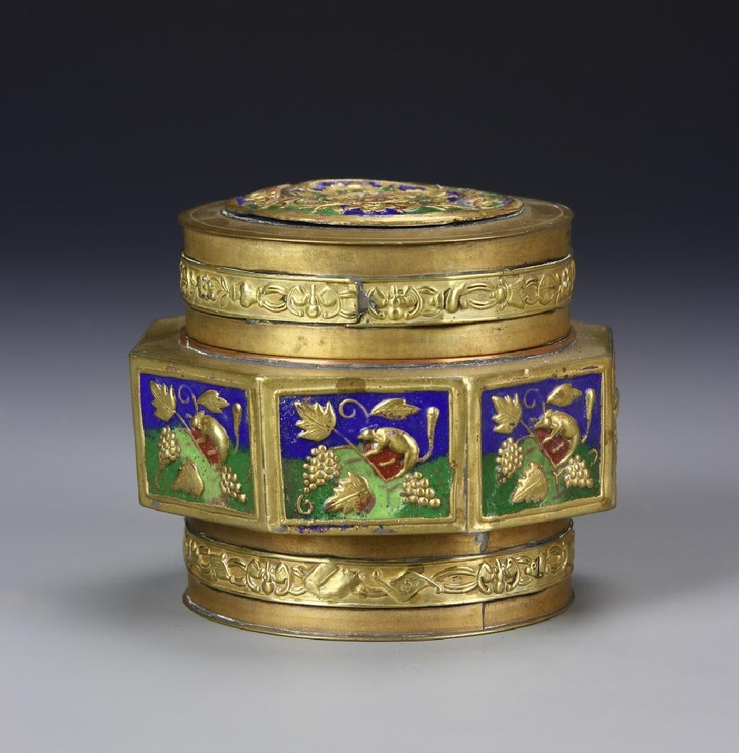 Chinese Cloisonne Box With Lid