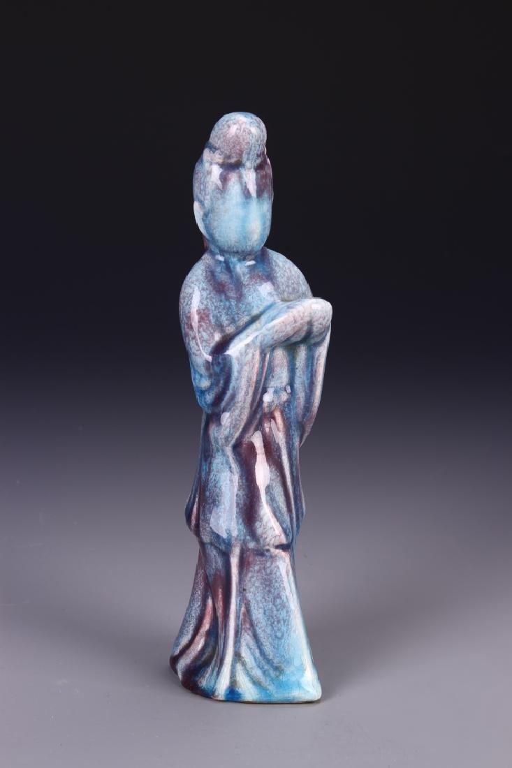 Chinese Jun Yao Kuan Yin Figure