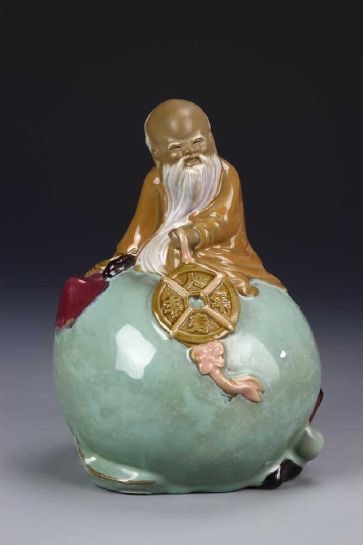 Chinese Porcelain Shoulao Figure
