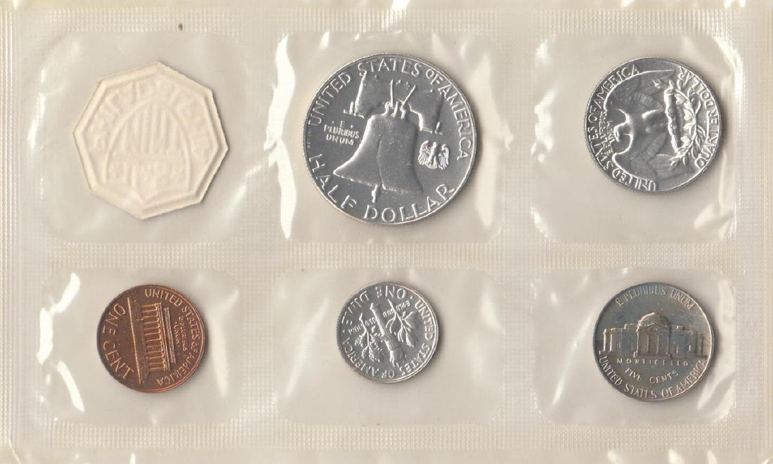 A Set Of 5 1962 Proof Set US Coins