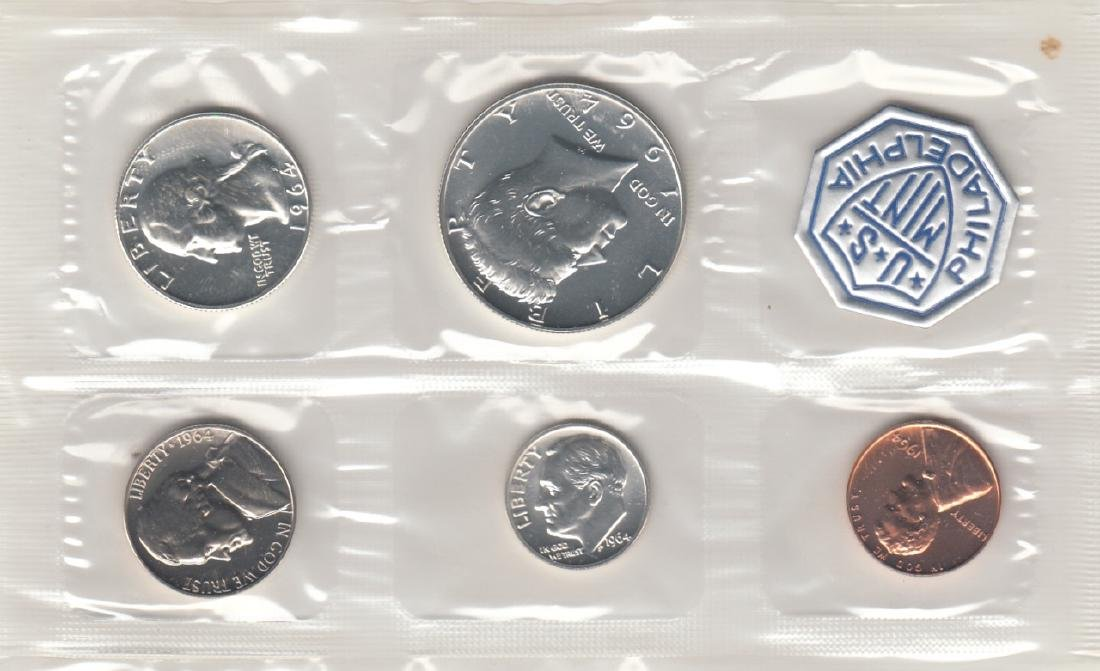 A Set Of 5 1964 Proof Set US Coins - 2