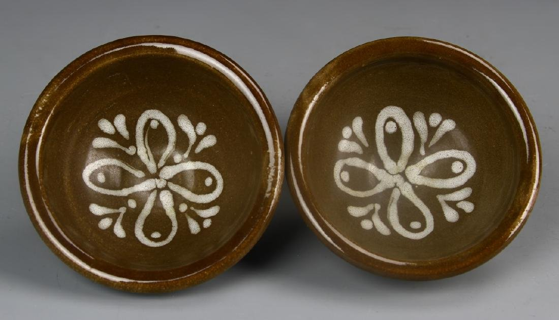 Pair Of Art Pottery Bowls With Base - 2