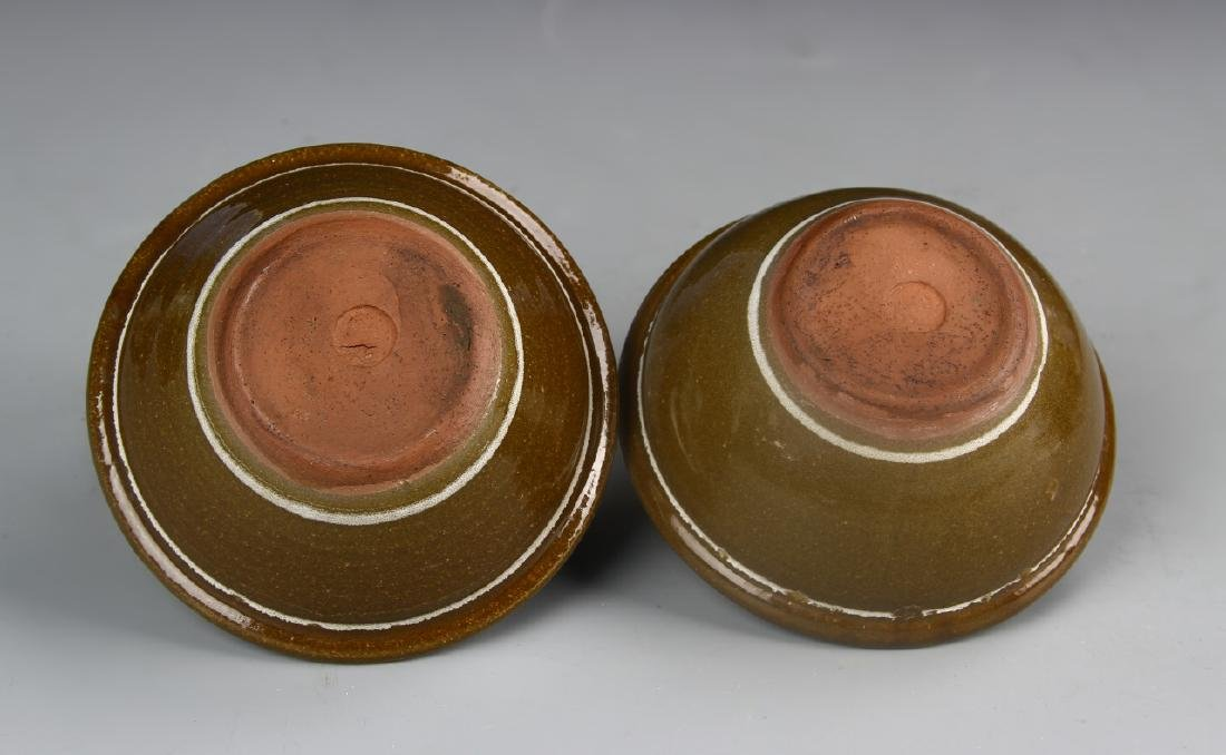 Pair Of Art Pottery Bowls With Base - 3