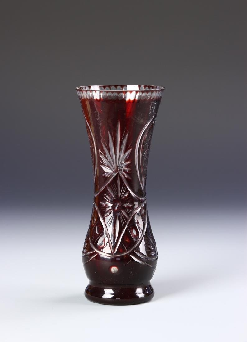 Bohemian Cut Glass Vase
