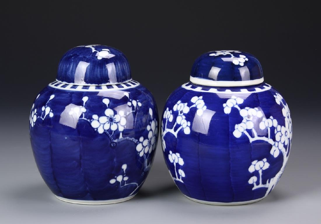 Two Blue And White Jar With Cover - 2