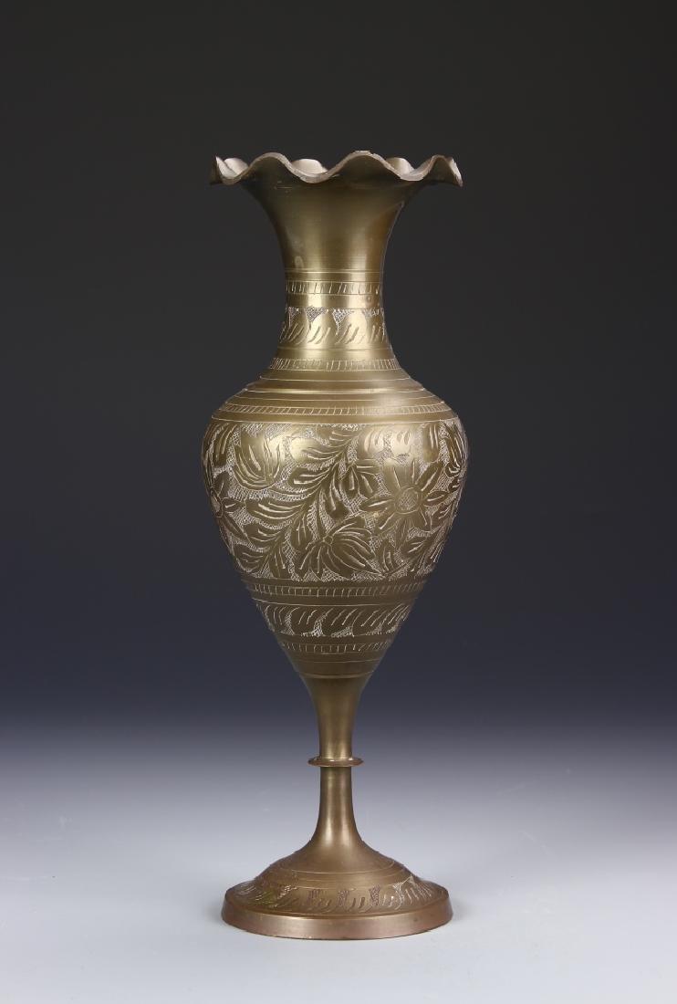 Thailand Brass Vase - 2