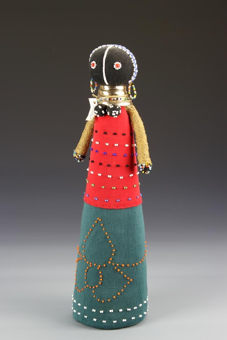 African Textile and Beaded Doll