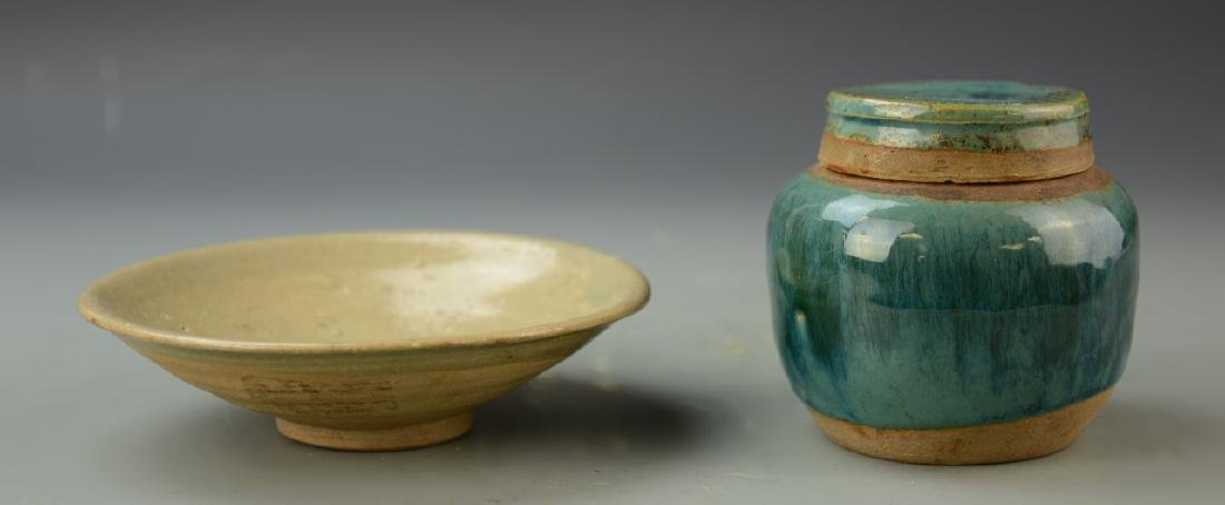 Chinese Blue Jar and Plate