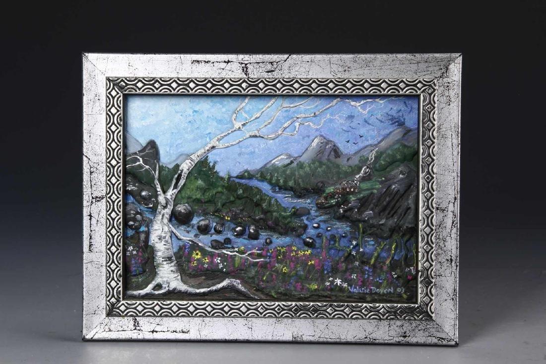 Framed Mini Oil Painting of Landscape