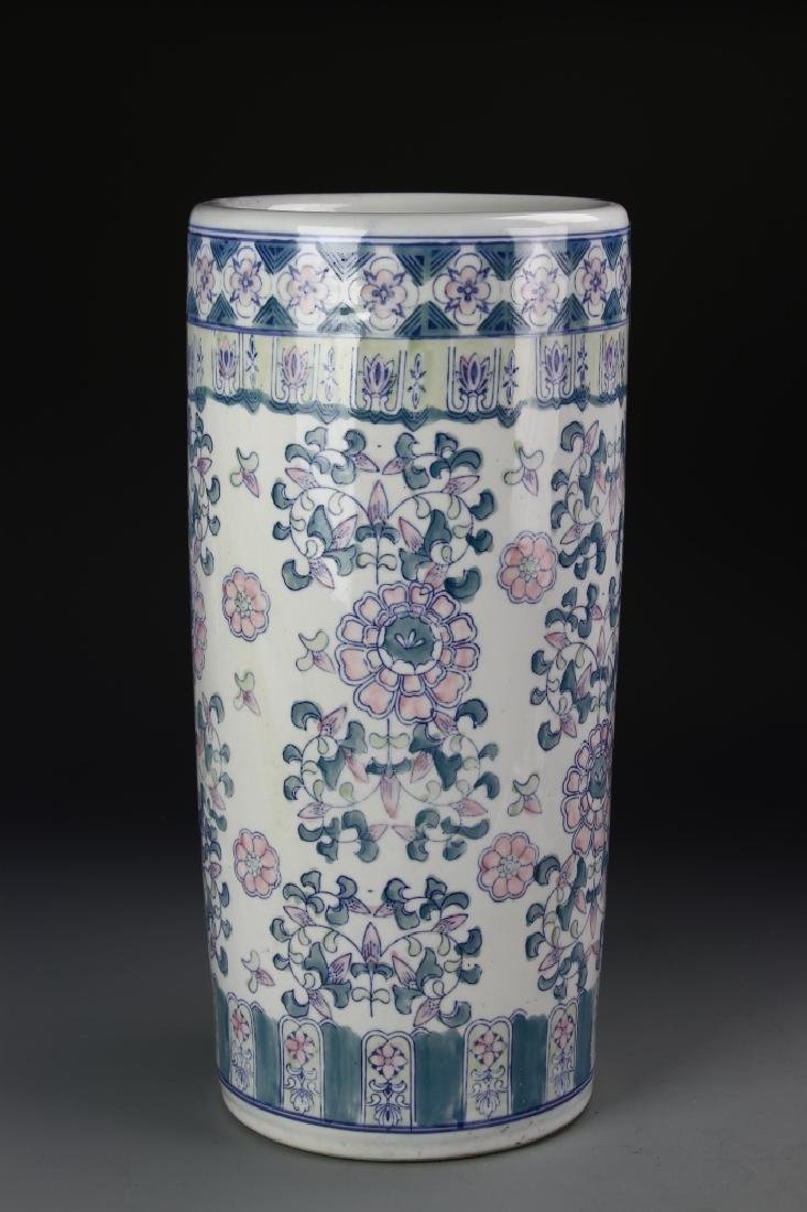 Chinese Famille Rose Umbrella Stand