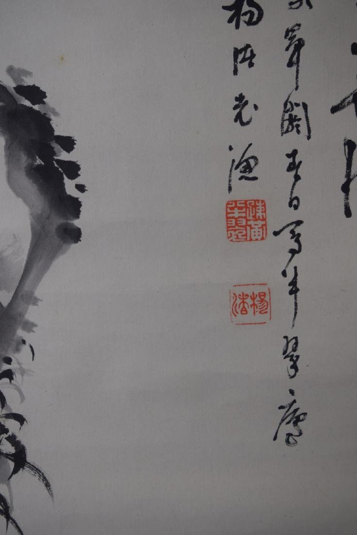 Chinese Scroll Painting Of Flowers - 3