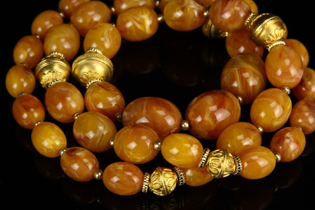 Chinese Amber Necklace - 2