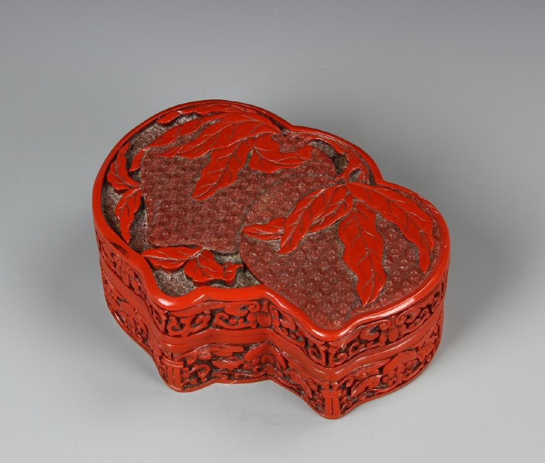 Chinese Red Ink Box
