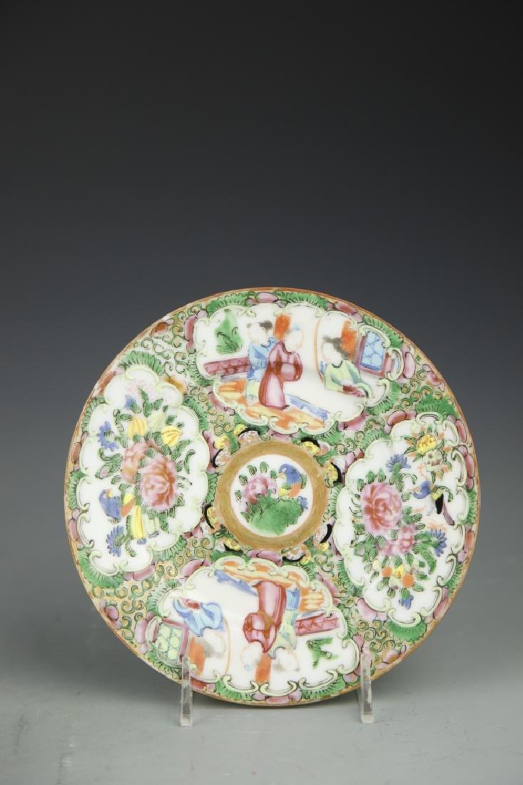 Pair Of Chinese Rose Medallion Plates