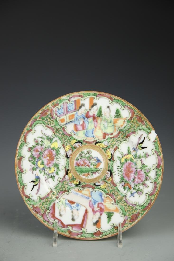 Pair Of Chinese Rose Medallion Plates - 4