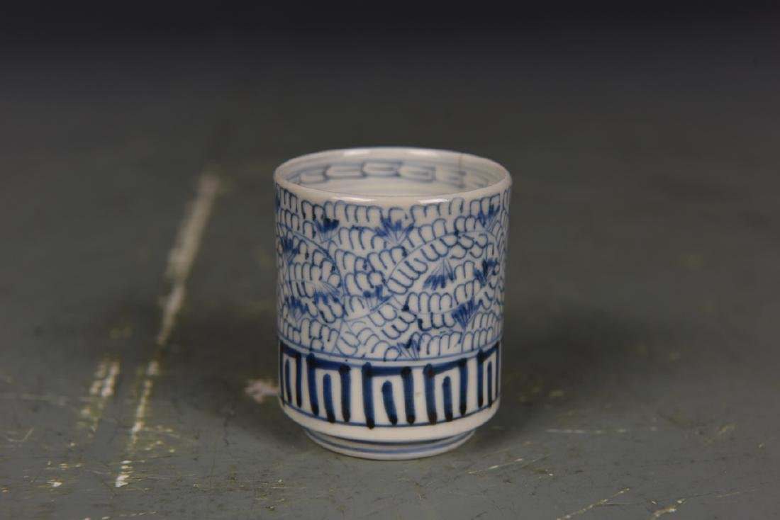 Three Japanese Blue and White Tea Cups - 8